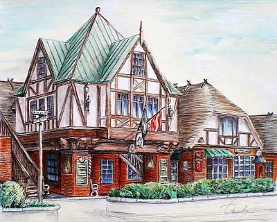 Danish Architecture In Solvang California Poster by Danuta Bennett