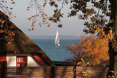 Danish Autumn Sea View Poster