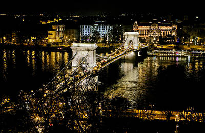 Danube Chain Bridge Poster