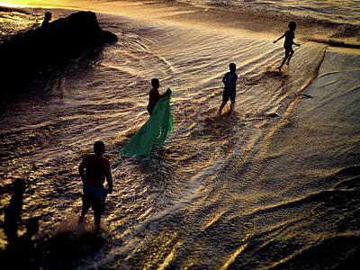 Danza Del Mar Poster by Skip Hunt
