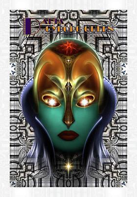 Daria Cyborg Queen Tech Fractal Portrait Poster
