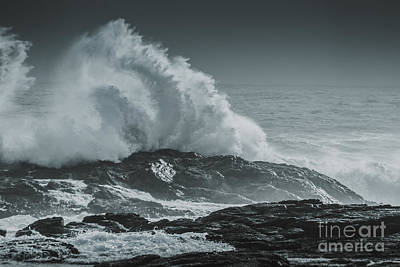 Dark Atmospheric Coastline Poster by Jorgo Photography - Wall Art Gallery