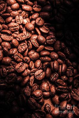 Dark Coffee Beans Background Poster