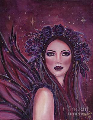 Dark Dahlia Fairy Poster by Renee Lavoie