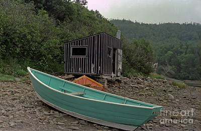 Dark Harbour Fisherman Shack And Boat Poster