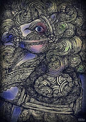 Dark Horse Poster by Akiko Okabe