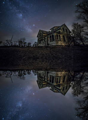 Poster featuring the photograph Dark Mirror by Aaron J Groen