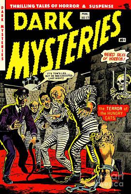 Dark Mysteries 13 Comiv Cover Restored Poster