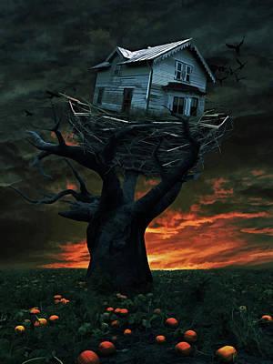 Dark Night Poster by Mihaela Pater