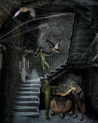 Dark Of The Night Poster by Solomon Barroa