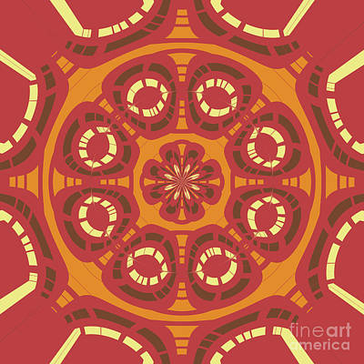 Dark Red Abstract Poster
