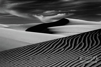 Dark Shadows In The Dunes Poster