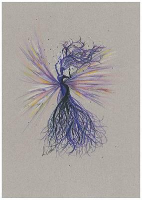 Poster featuring the drawing Dark Streak Strut.. by Dawn Fairies