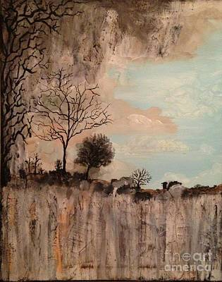 Dark Textured Landscape Poster by Donna Marshall