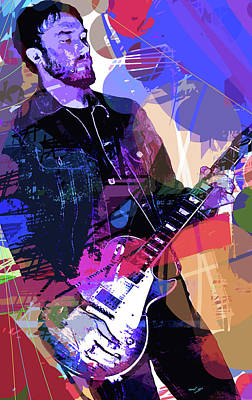 Darren Glover Les Paul Gibson Poster by David Lloyd Glover