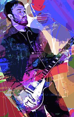 Darren Glover Les Paul Gibson Poster