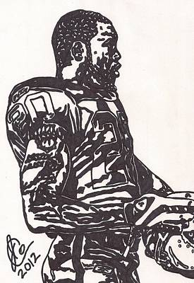 Poster featuring the drawing Darren Mcfadden 1 by Jeremiah Colley