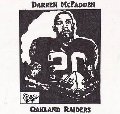 Darren Mcfadden 2 Poster by Jeremiah Colley
