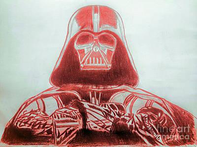 Darth Vader Rogue One - Red Poster by Scott D Van Osdol