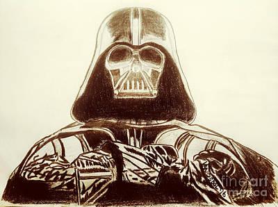 Darth Vader Rogue One - Sepia Poster by Scott D Van Osdol