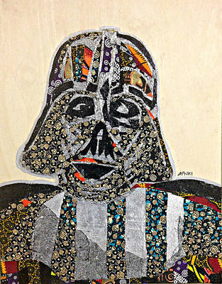 Poster featuring the tapestry - textile Darth Vader Star Wars Afrofuturist Collection by Apanaki Temitayo M
