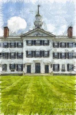 Dartmouth College Hanover New Hampshire Pencil Poster by Edward Fielding