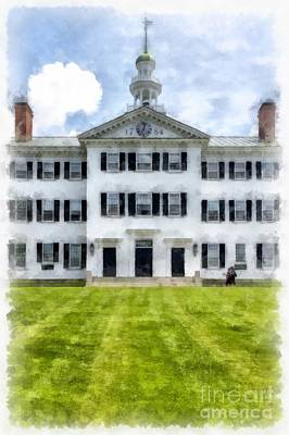 Dartmouth Hall Dartmouth College Poster by Edward Fielding