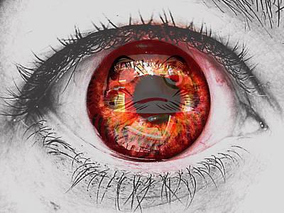 Daruma Eye Poster by Pamela Larson