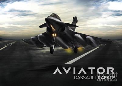 Dasault Rafale Fighter Jet Poster by Fernando Miranda