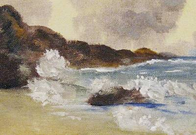 Poster featuring the painting Dashing Waves by Trilby Cole