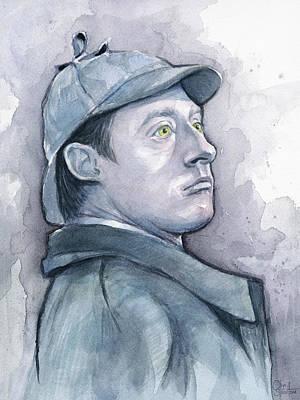 Data As Sherlock Holmes Poster by Olga Shvartsur