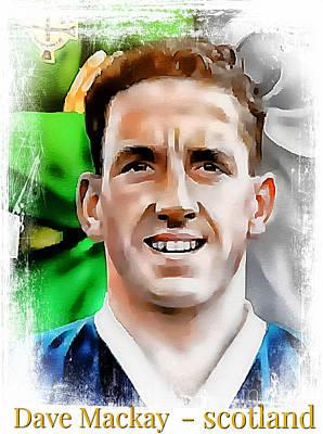 Dave Mackay Football Legend Poster