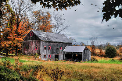 Davenport Farm - Connecticut Scenic Poster by Thomas Schoeller