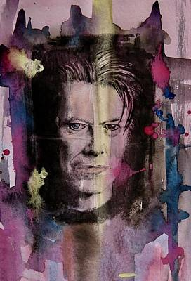 Poster featuring the painting David Bowie by Geni Gorani