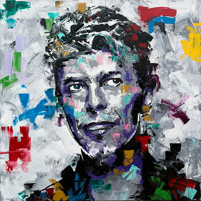 Poster featuring the painting David Bowie II by Richard Day