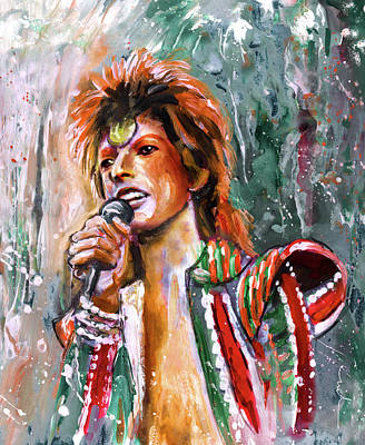 David Bowie Poster by Miki De Goodaboom