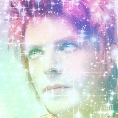 David Bowie / Starman 2 Poster by Elizabeth McTaggart
