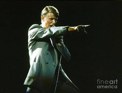 Poster featuring the photograph David Bowie The Point by Sue Halstenberg