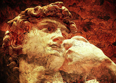 David By Michelangelo Poster
