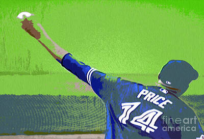 David Price's Catch Poster by Nina Silver