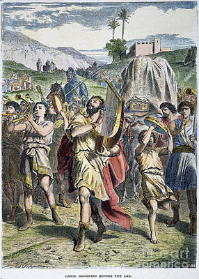 David Rejoicing At Ark Poster by Granger