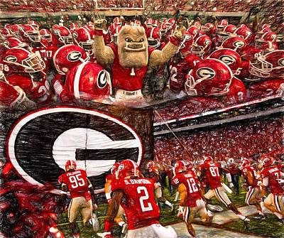 Dawgs 2015 Collage Poster by John Farr