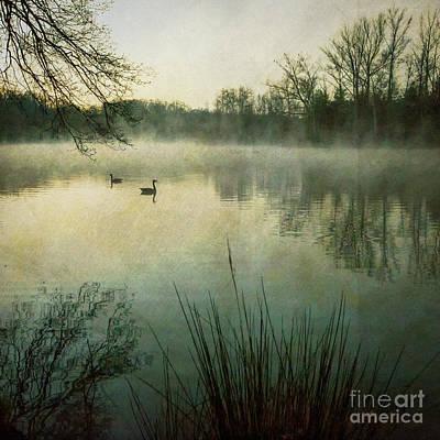 Dawn At Biltmore Lagoon Poster