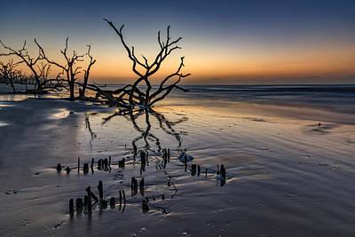 Dawn At Botany Bay Poster by Rick Berk