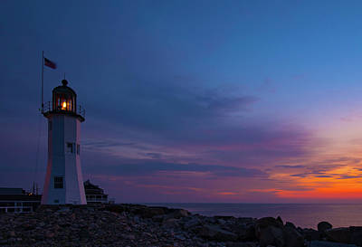 Dawn At Scituate Light Poster