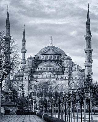 Dawn At The Blue Mosque Poster
