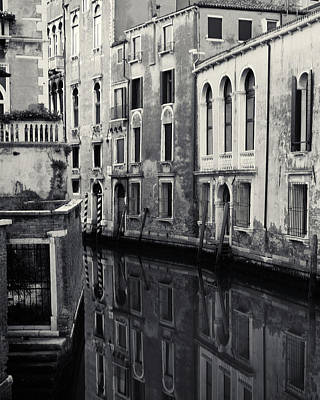 Poster featuring the photograph Dawn Canal, Venice, Italy by Richard Goodrich