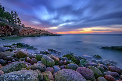 Dawn In Monument Cove Poster by Rick Berk