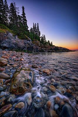 Dawn On Little Hunter's Beach, Acadia Poster by Rick Berk