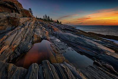 Dawn Over Pemaquid Point Poster by Rick Berk